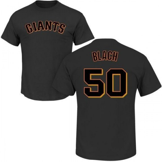 Ty Blach San Francisco Giants Youth Black Roster Name & Number T-Shirt -